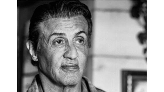 Black and white pic of Sylvester Stallone - naked marketing blog